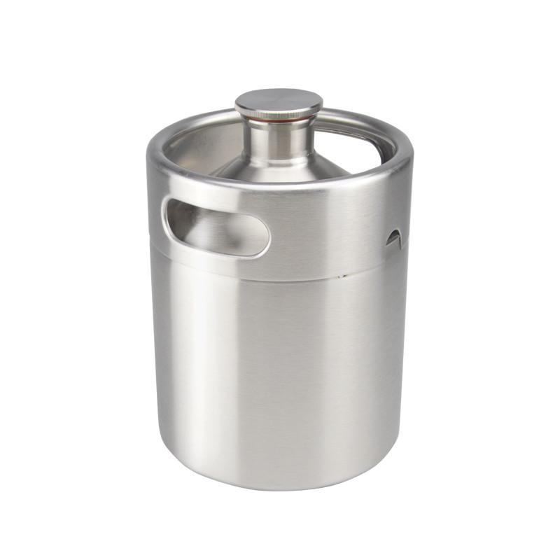 2l 64oz insulated stainless steel mini beer barrel keg growler