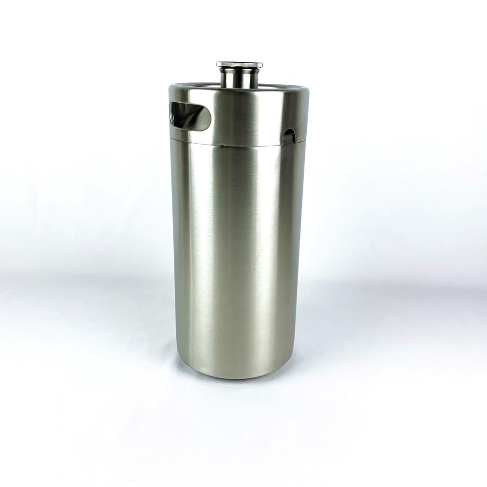 custom 3.6 liter 304 stainless steel bar party mini beer bottle kegs growlers