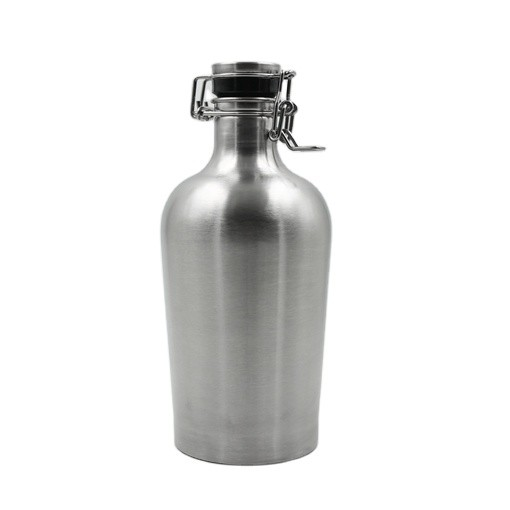 Food gradestainless steel AISI 304 Swing cover BEER growler 1L, 1.5L 2L