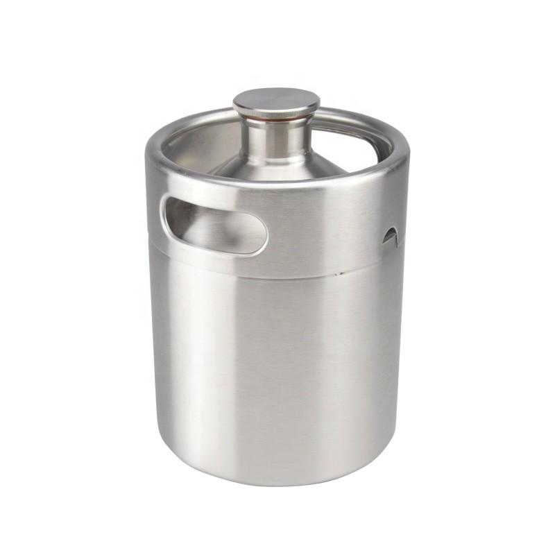 2l 64oz stainless steel beer kegs inox growler