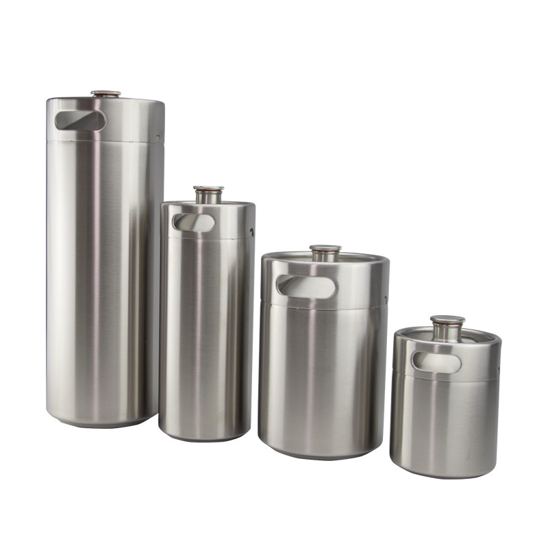 2L 3.6L4L 5L 10L 64oz 128oz stainless beer growler mini keg 5L