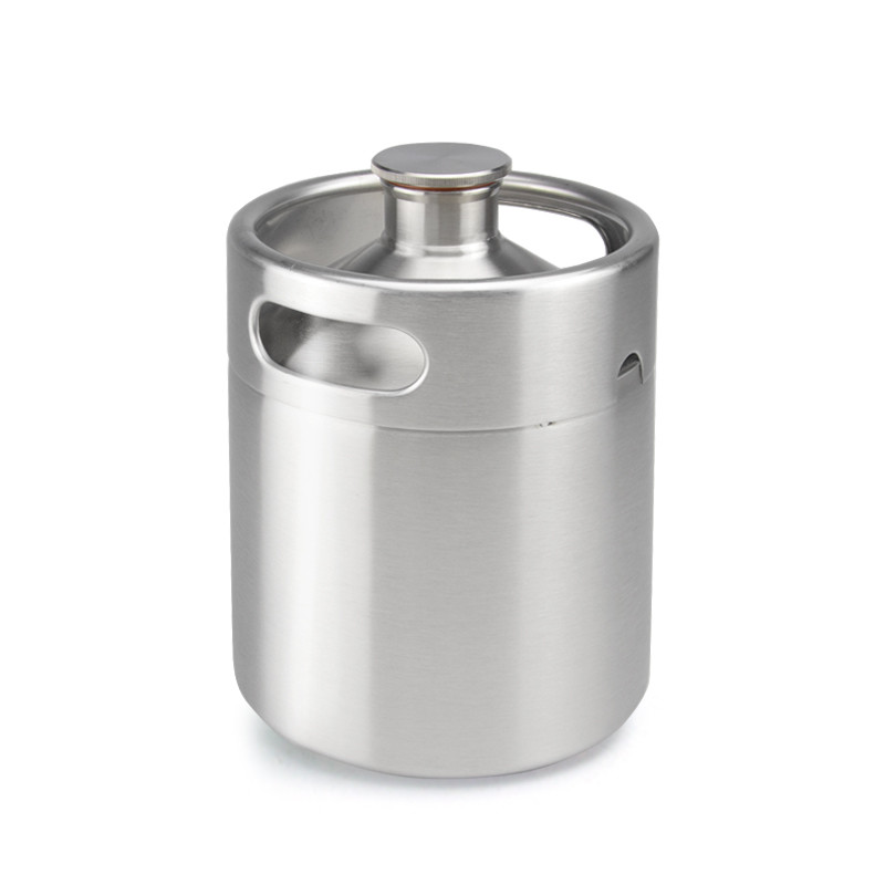 64oz Stainless Steel Mini Beer cooler Container With co2 Pressure Relief Valve Cap