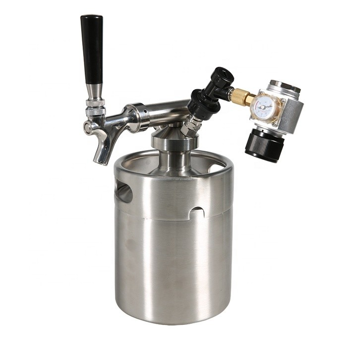 home brewing removable stainless steel party beer keg bottles 2L mini growler