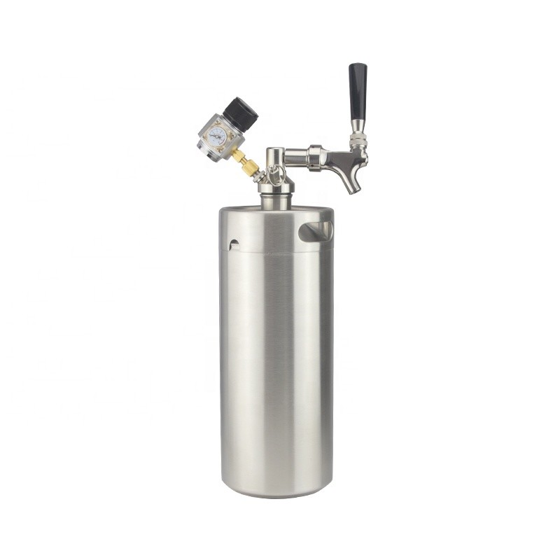 Tap Dispenser System 5 L Mini CO2 Regulator Stainless Steel beer 170oz keg