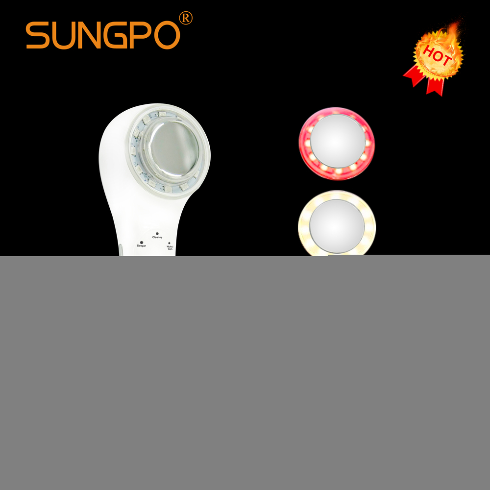 SUNGPO Cheap Handheld Ultra sonic Quantum Light Therapy Multifunctional Beauty Instrument Skin Rejuvenation Face Lift at home