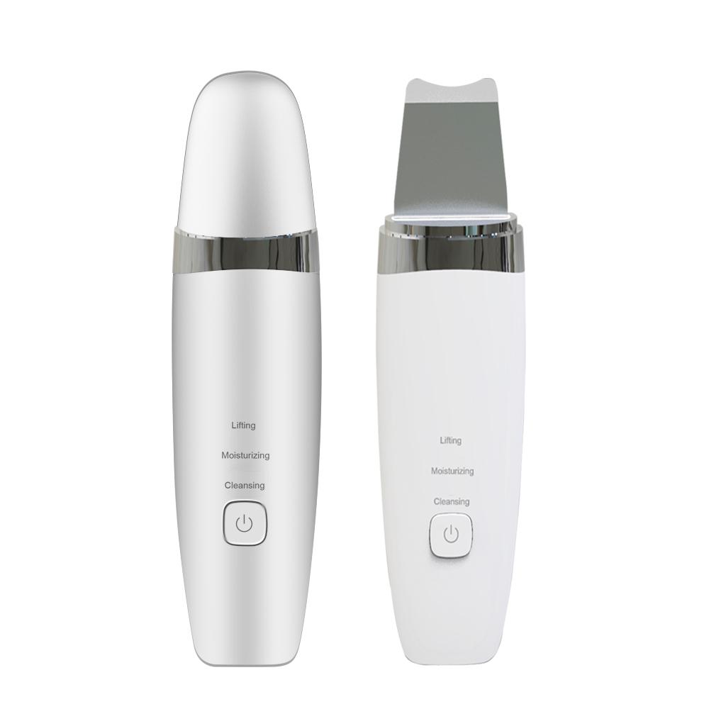 Ultrasonic facial skin scrubber USB rechargeable shock removing blackhead skin scrubber