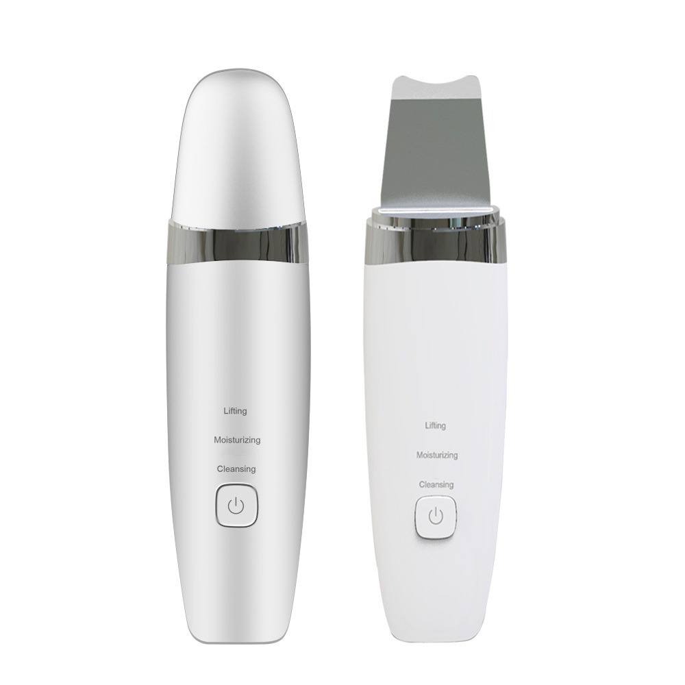 Portable lcd waterproof face ckeyin facial dead ultrasonic scrubber skin with led screen