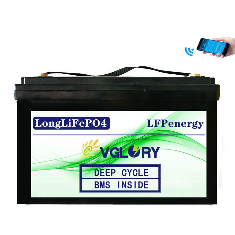 Li Ion 200ah Accu New Lithium 12v-200ah-lithium-ion-battery Rechargeable Bms 26650 Lifepo4 12v