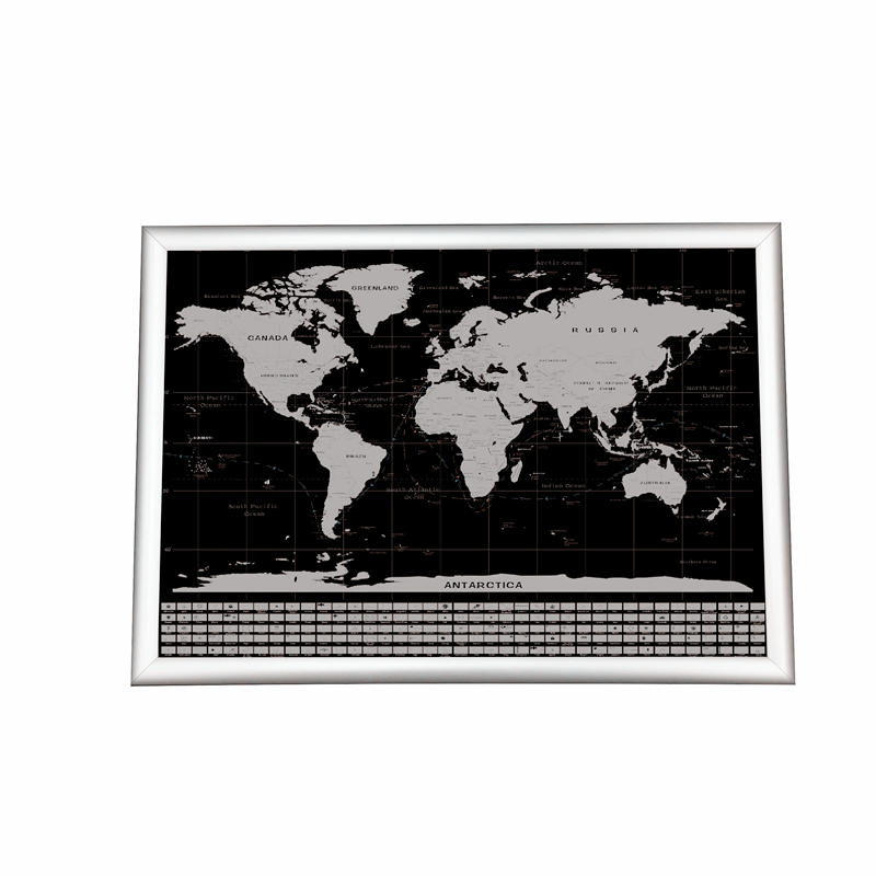 Amazon Hot sale Item 250 Grams Coated Paper 33 Inches Travel Edition US State Scratch Off Map Poste Gift