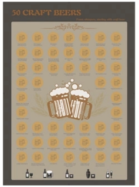 product-50 party game 50 cocktail 50 red wine 50 beer to drink bucket list scratch off poster-Dezhen-3