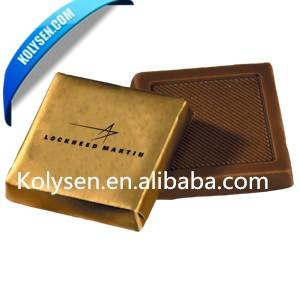 Custom Embossed colored aluminum foil paper squares for chocolate china supplier