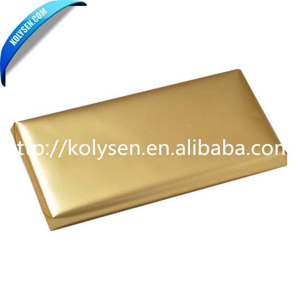 Factory Price 0EM food grade Chocolate Bar Wrapper aluminium foil paper food China supplier