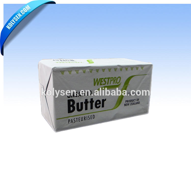 customized printing aluminum foil paper wrap for butter cheese