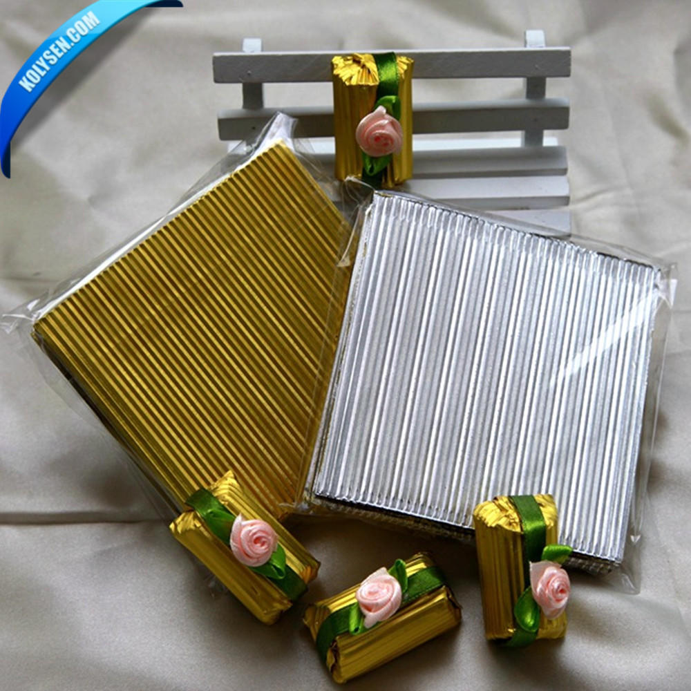 Twist Aluminum foil Chocolate candy wrapper printing paper in roll