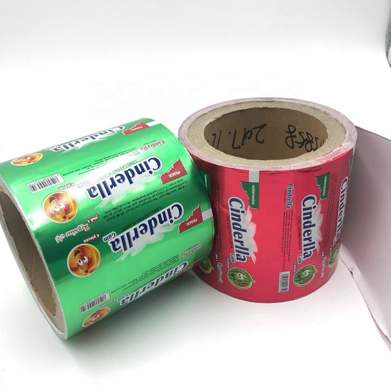 Custom food grade chewing gum wrapping aluminum foilpaper factory in china