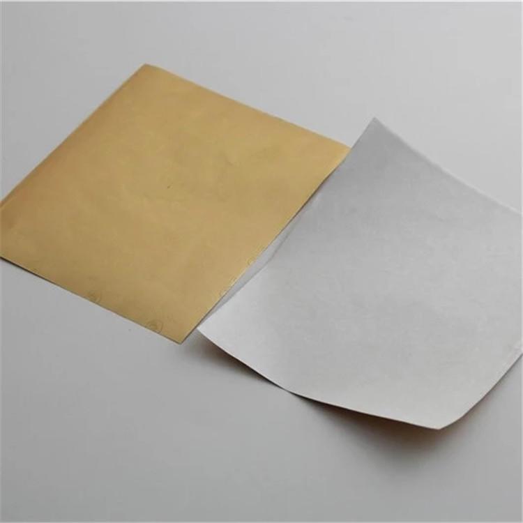 Custom printed food grade chocolate foil paper gold color dorado lamina de aluminio de papel