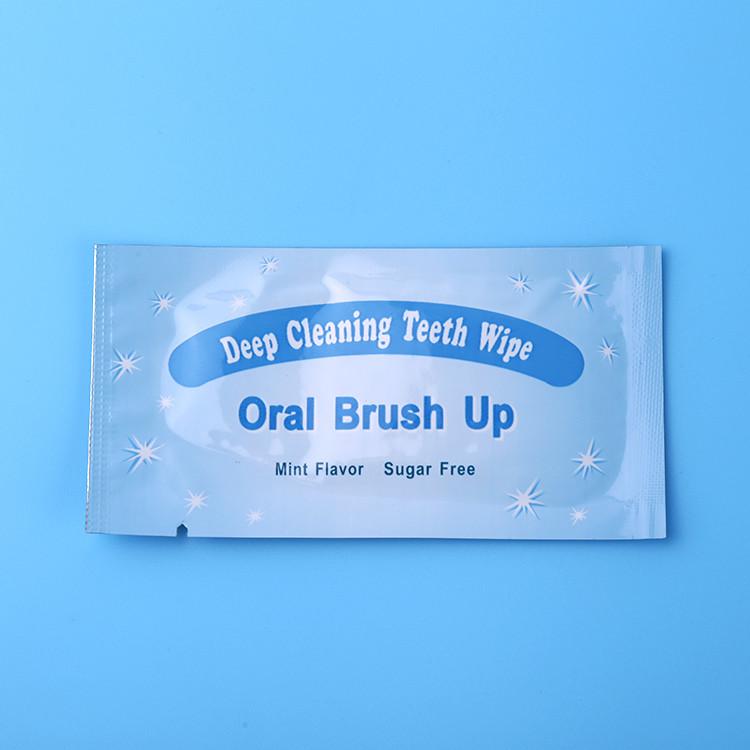 mint non-woven teeth whitening finger brush
