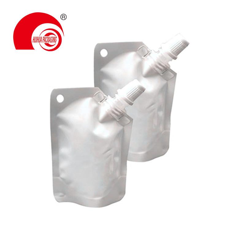 Vacuum Metalized Aluminum Foil Liquid Storage Bag High Barrier Spout Pouch with Corner Nozzle