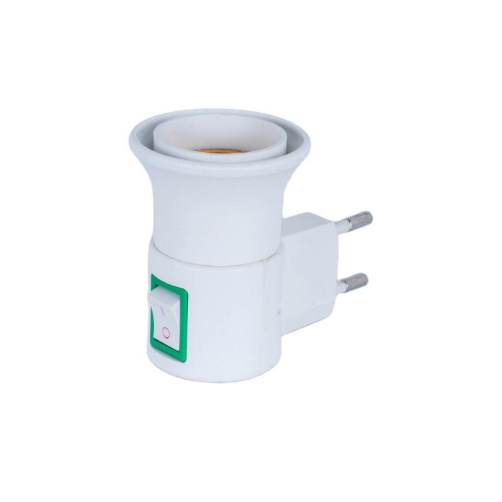OEM European Plug to E27 Italy egypt type switch electrical plug socket lampholder factory adapter