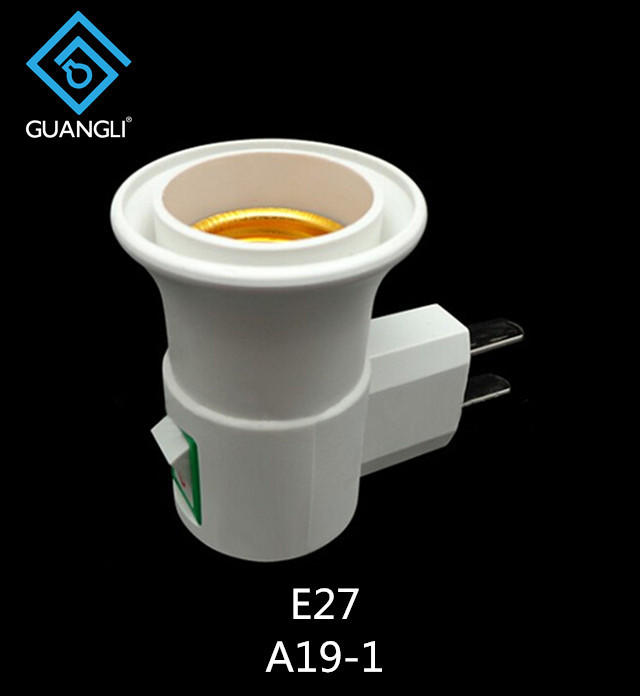 CE ROSH E27 with vertical Flat Plug Light Bulb Lamp electrical plug socket Base Holder Adapter Converter from factory