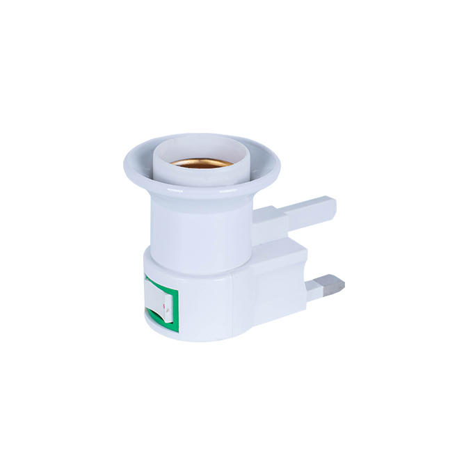 E27 UK CE ROHS bulb screw type adapter UK standard lamp electrical plug socket with switch
