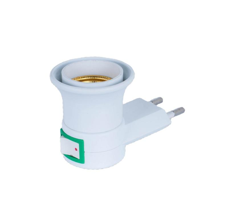OEM Indonesia E27 round plug plastic switch night lamp base holder A17-1 electrical plug socket