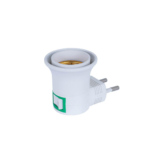 OEM A13-1 CE ROSH approved night light socket European plug in lamp holder for acrylic night light 220V