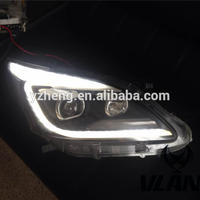 VLAND Manufacturer accessory for Car head light for 2012 2013 2014 2015 For Innova LED headlamp with yellow moving turn signal