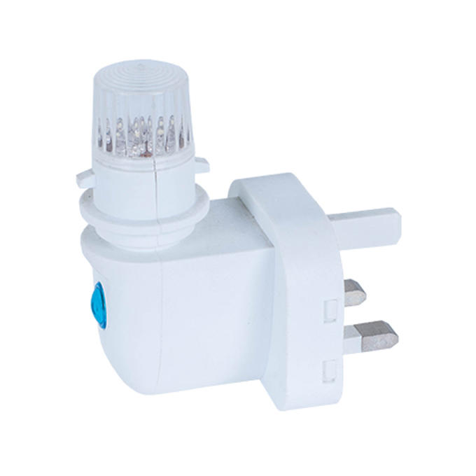 e14 base socket 4 leds lamp holder 3 PIN BS UK plug CE ROHS approved Switch LED lighting night light lamp socket