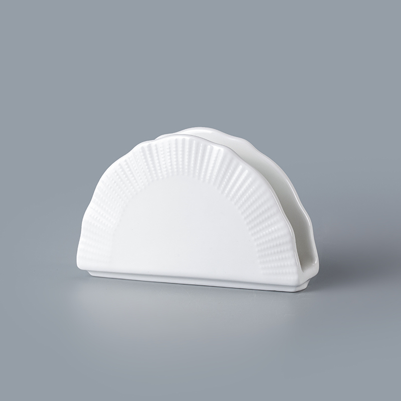 cheap white ceramic napkin holder wholesale promotion napkin holder napkin holder for restaurant&hotel