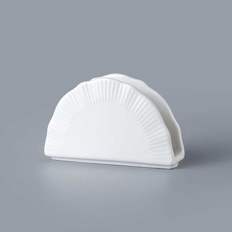 cheap white ceramic napkin holder wholesale promotion napkin holder napkin holder for restaurant&hotel