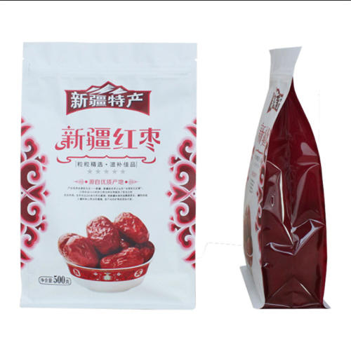 KOLYSEN Customized food grade packaging material flat bottom stand up zipper pouch made in china