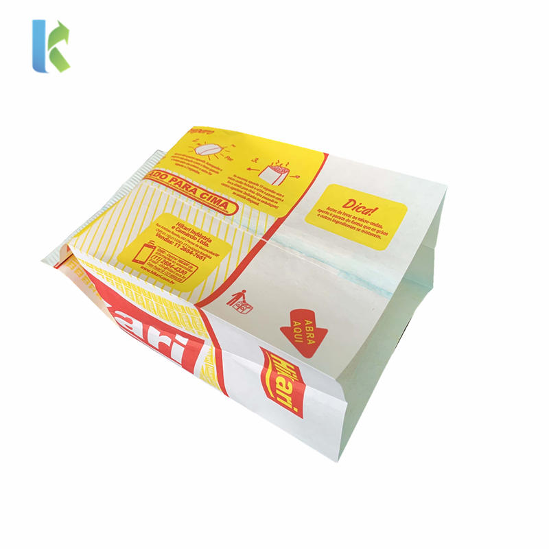 Corn Bolso Wholesale Paper Bags Microonda Bulk Sealable Large Greaseproof Factory Logo New Heat Seal Flexo Printing Accept