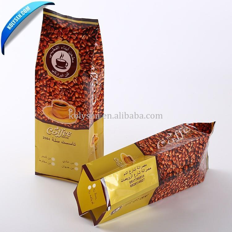 PET/AL/PE customize gravure printing coffee bags with valve