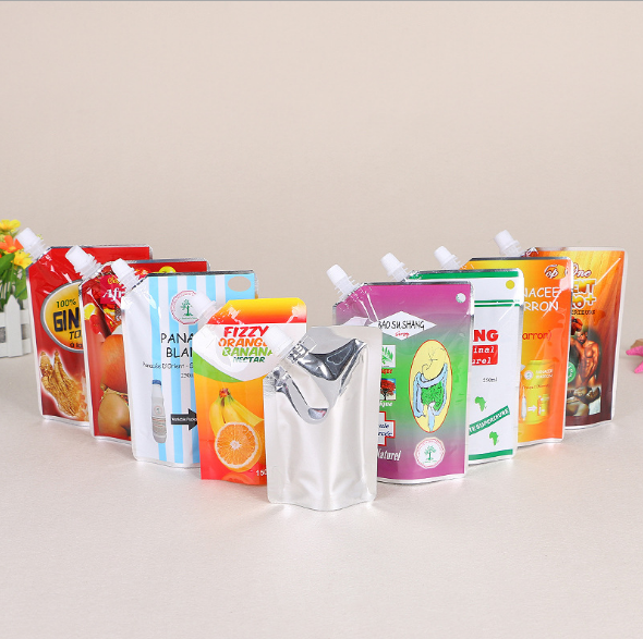 standup doypack bolsa with cap for juice