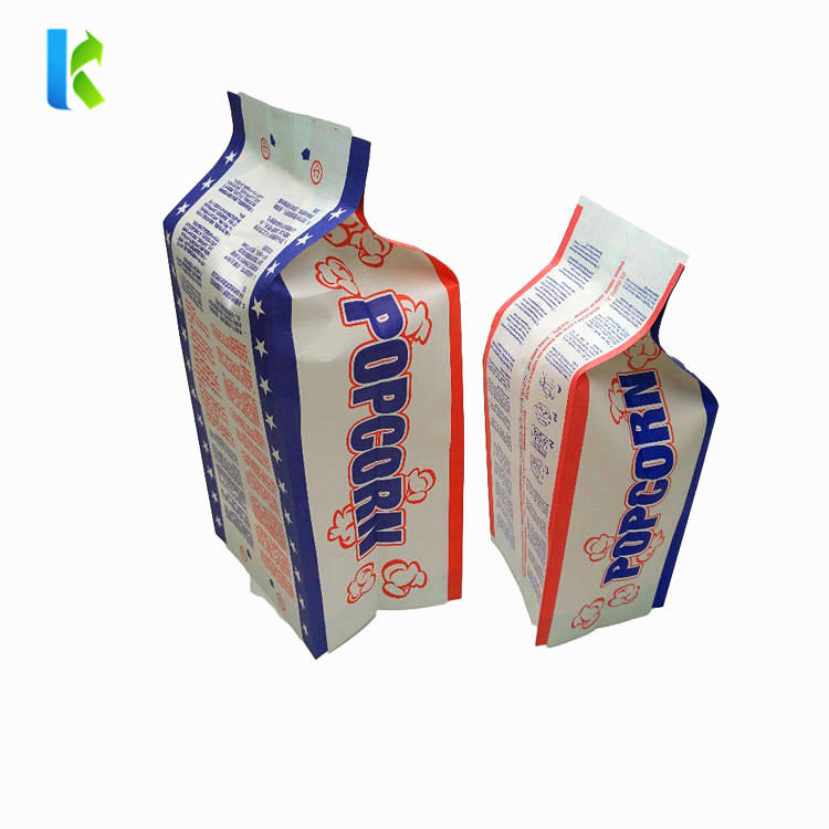 Disposable popcorn bag microwavable popcorn bag with side gusset