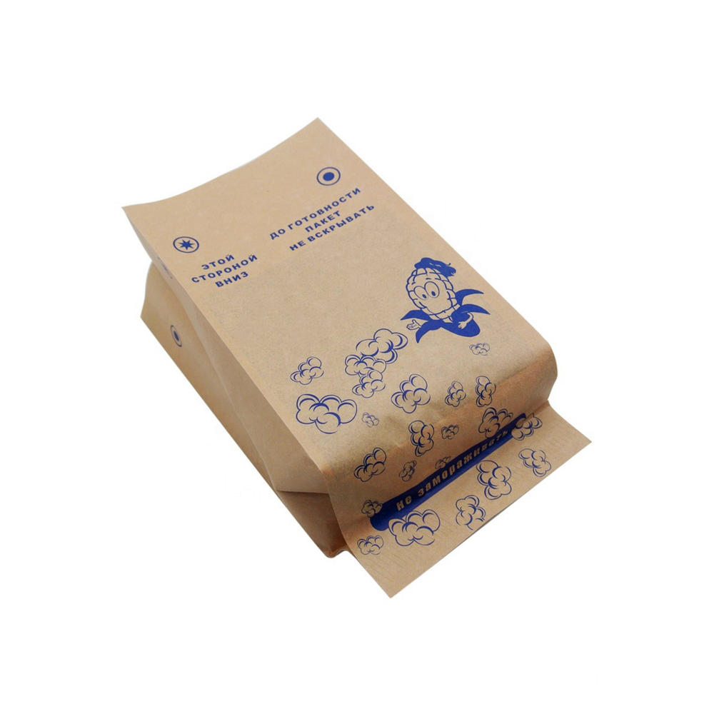 Bulk Custom Logo Printed Design Large Sealable Wholesale New Microwave Paper Bags For Popcorn