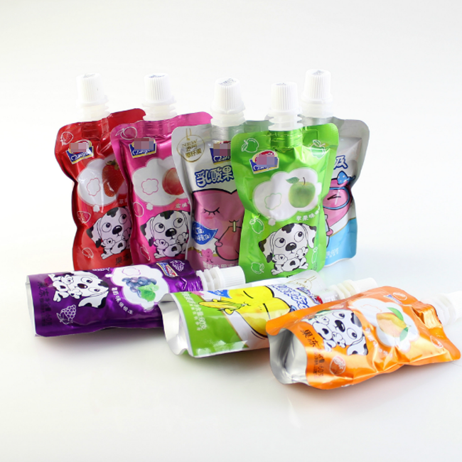 Kolysen custom juice packaging stand up pouch with straw inside