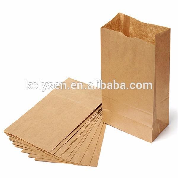 Kolysen white kraft paper bag sandwich bag for sandwich packing