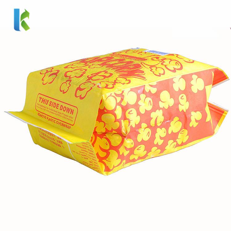 Wholesale Bulk Large Paper Custom GreaseproofMicrowave Logo Sealable Printed New Design Craft Paper Popcorn Bag