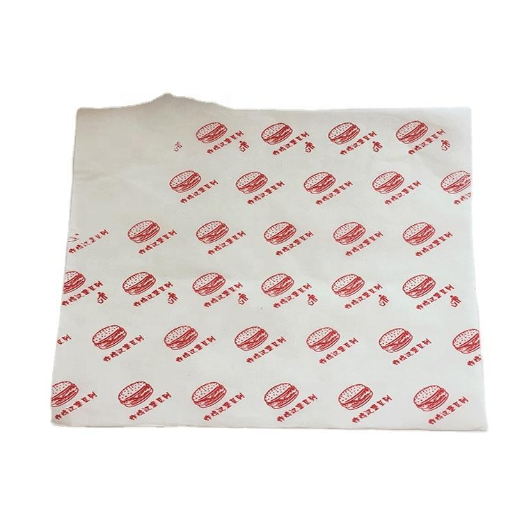 DIrect Factory Price Custom printed food greaseproof paper for sandwich packaging