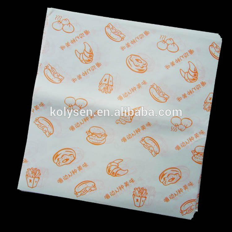 Fast Food Packaging paper sheets paper wraps
