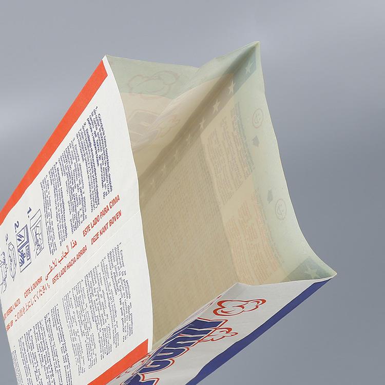 Wholesale New Design GreaseproofPaper Microwave Custom Large Logo Printed Sealable Bulk Pop Corn Bags