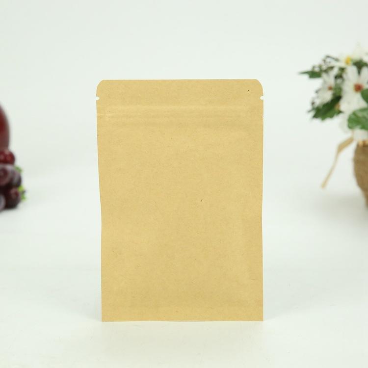 Dried Fruit Packaging Brown Kraft Bag with Zipper