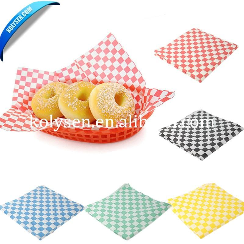 Custom Printed Sandwich Wrapping Paper Parchment Paper Wood Pulp Offset Printing Virgin Chemical Pulp Waterproof Uncoated Accept