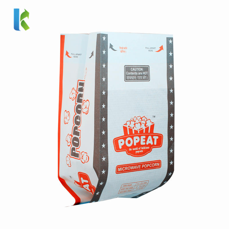 Microondas Logo GreaseproofFactory Para Sealable Large Sealable Bolso New Corn Bulk Wholesale Packaging For Popcorn