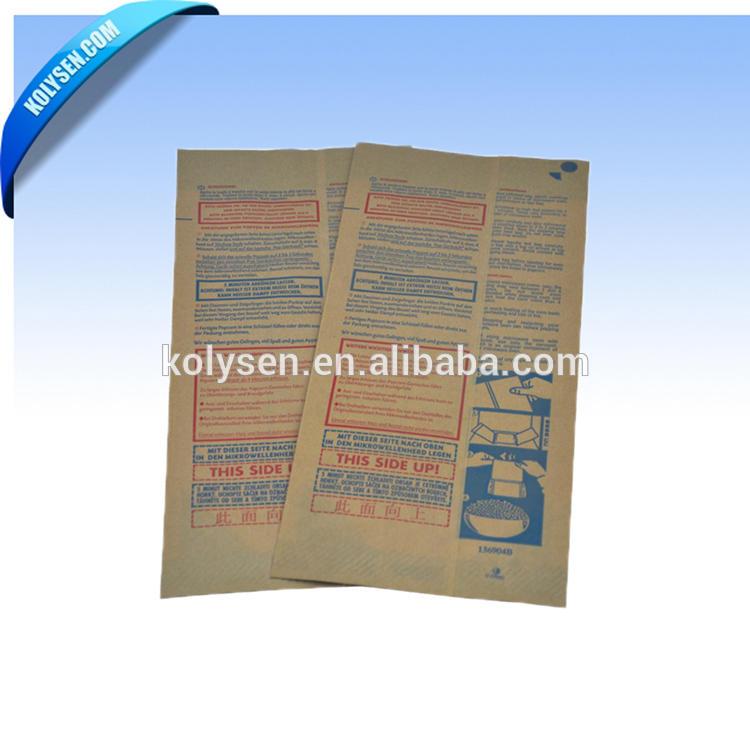 Microwaveable brown kraft popcorn paper bags