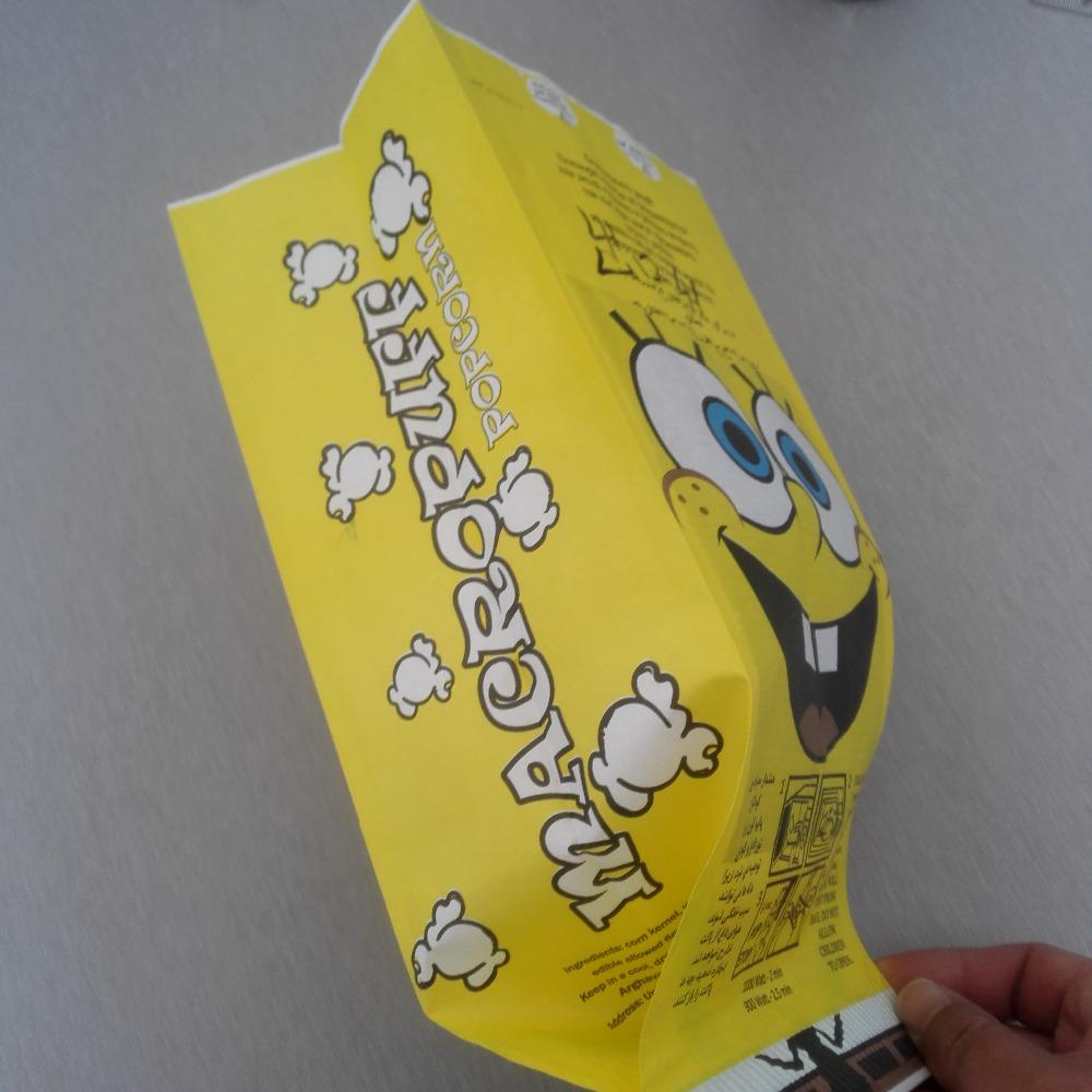 Sealable Bulk Wholesale Paper Greaseproof Microwave Custom Large Logo Printed New Design Craft Paper Popcorn Bag