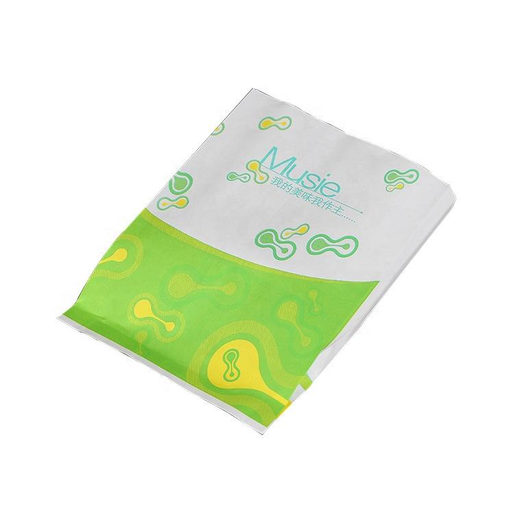 Custom printed food grade Food wrapper Sac papier bag greaseproof paper bag Manufacturer