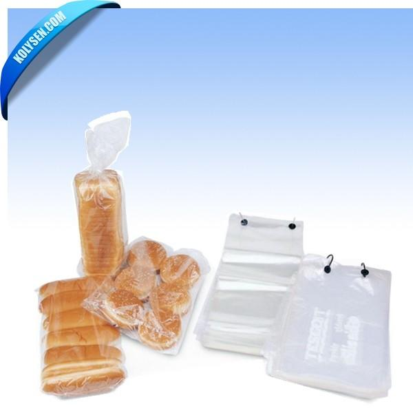 Custom Bags Hot Dog Cake Cookies Transparent Plastic Heat Shrink Wrap Film Wicket Bread Bag With Food Packing Printing